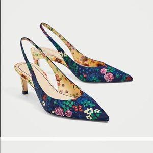 Zara slingback 2tone floral